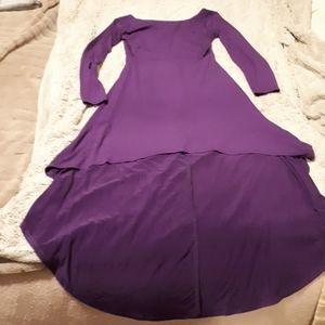 Purple asymmetrical dress